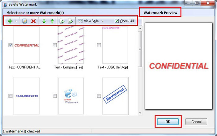 How to automatically generate watermarks in flipping page for Pdf document watermark