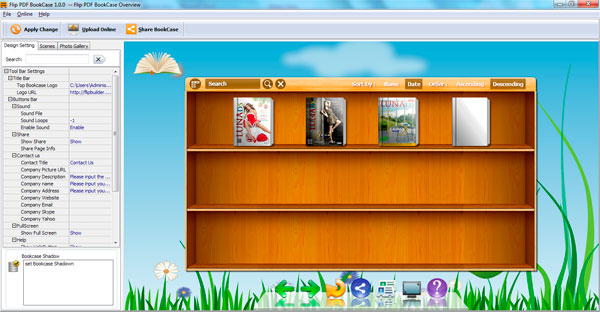 FlipBook Creator BookShelf