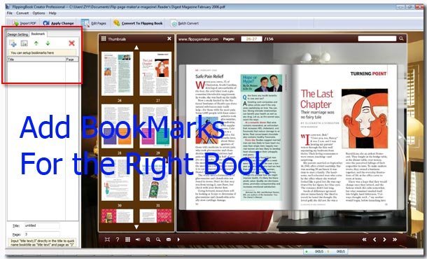 the easiest approach adding bookmarks for flip page book flipbook