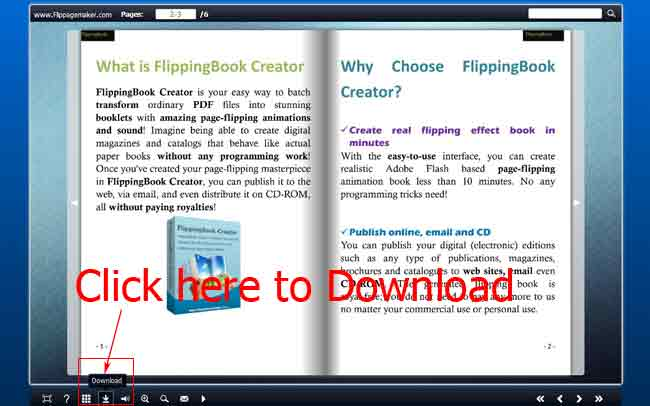how to enable readers to download my flash flip-page eBook