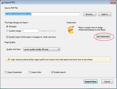 how todele watermarks in pdf