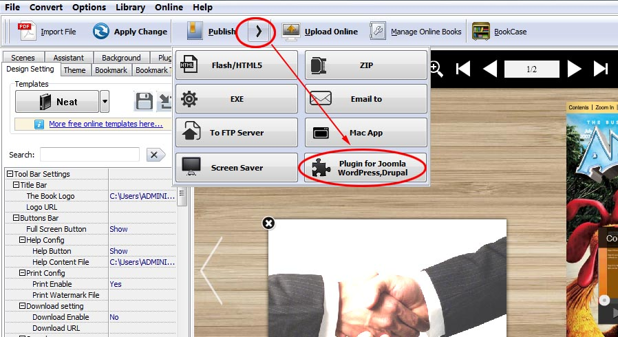 How To Insert The Flipbook Created By Flipbook Creator Into Drupal