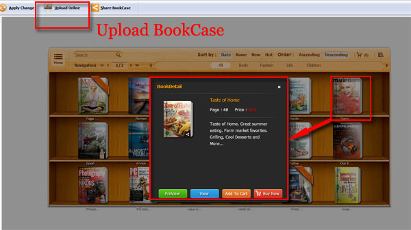 How To Flipbook Online Via Bookcase
