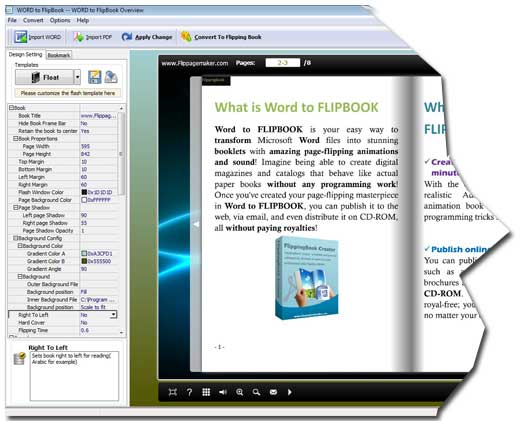 how to create word document like a book