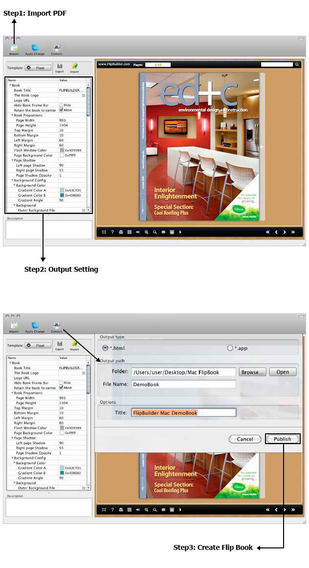 cookbook templates for mac - flipbook creator pro for mac 1 9 4