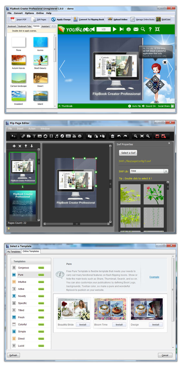 Click to view FlipBook Creator Professional 1.4 screenshot
