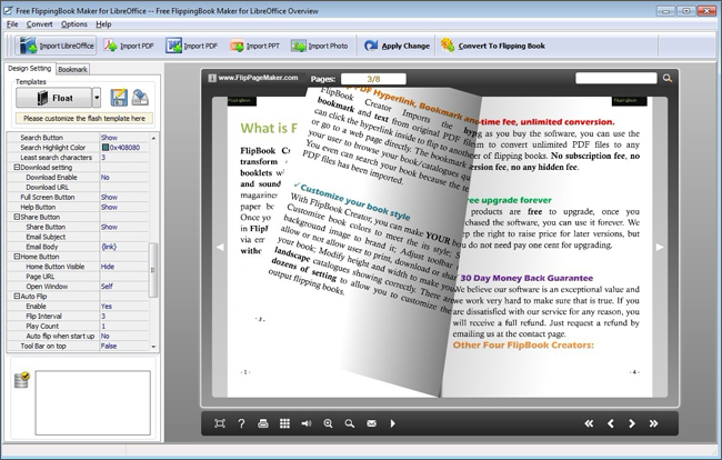 FlipPageMaker Flipbook Maker for LibreOffice