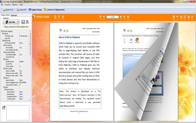 Free Page Flip Book Creator full screenshot