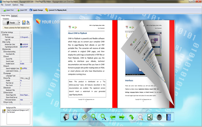 Flippagemaker free page flip maker turning page software for Free online brochure maker template