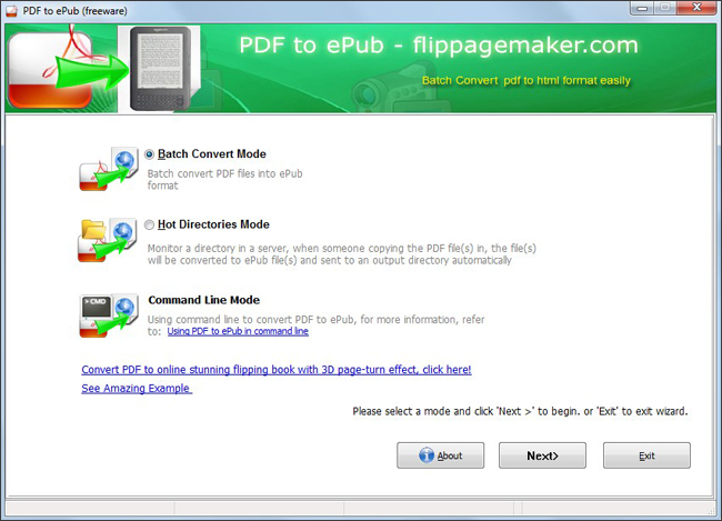 Flippagemaker Free PDF to ePub – 100% free ebook batch conversion