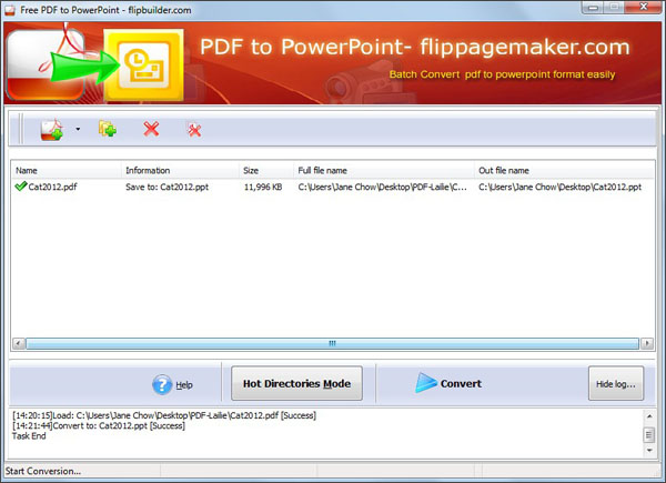 Flippagemaker PDF to PPT – 100% freeware to convert PDF to