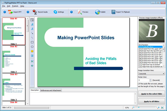 Freeware FlipPageMaker PPT To Flash SWF For Website Publish
