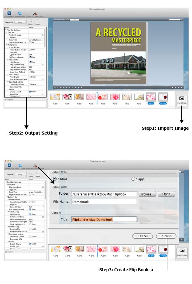 Image to FlipBook for Mac full screenshot