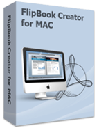 Box shot of Boxoft Flash Page Flip Maker for Mac