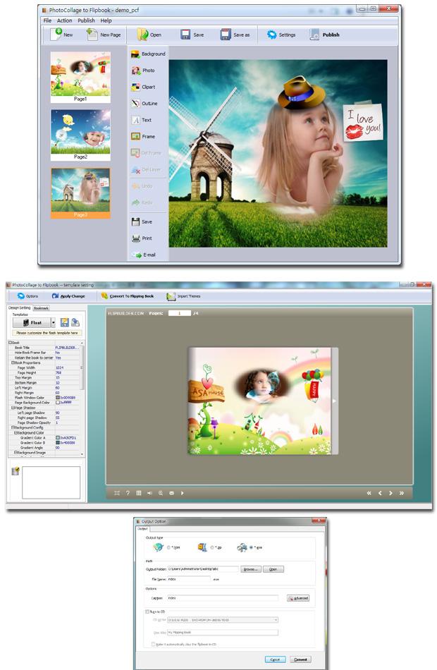 Windows 7 PhotoCollage to FlipBook 3.2.2 full