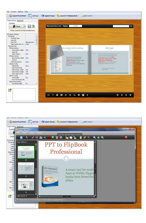 PPT to FlipBook Professional full screenshot
