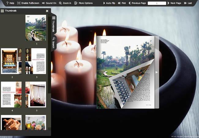 HTML5 Page Turning Magazine