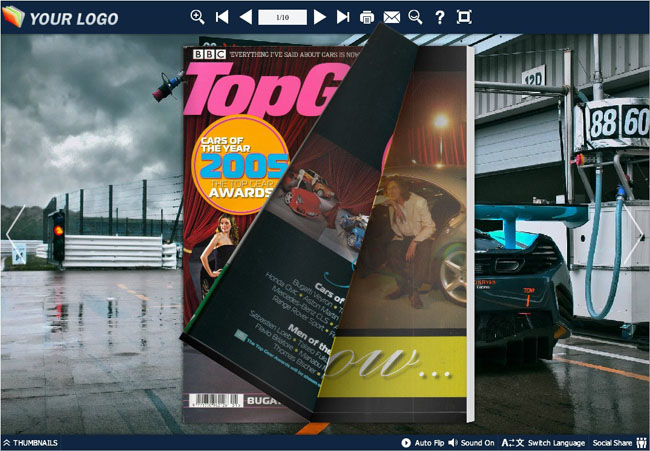 Sports Car Theme Templates full screenshot