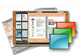 wooden desktop style theme and templates for FlipBook Creator (Prossional)
