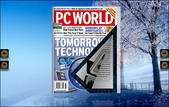 PDF to flash page flipping magazine