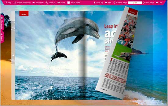 FlipBook Creator Themes Pack -Beach screen shot