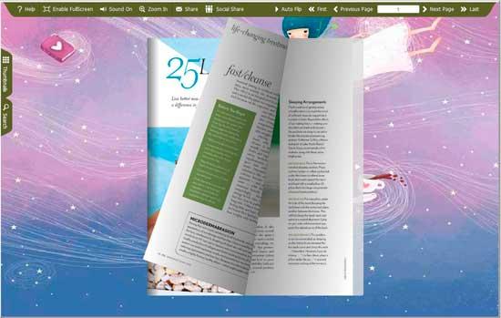 FlipBook Creator Themes Pack - Fairy screen shot
