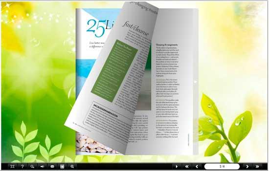FlipBook Creator Themes Pack - Leaves screen shot