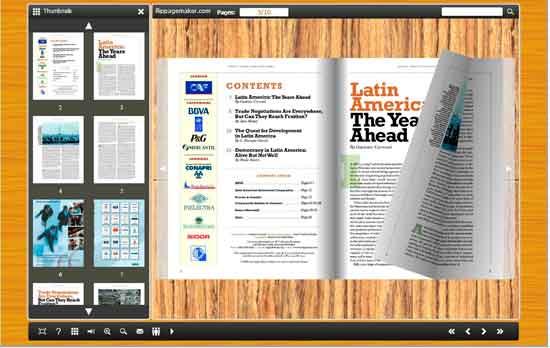 FlipBook Creator Themes Pack - Wooden_1 screen shot